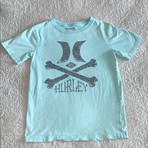 Hurley Light Blue Skull Short Sleeve Shirt